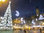 バレンシアのクリスマスイルミネーション。