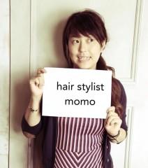スタイリストのMomoさん。