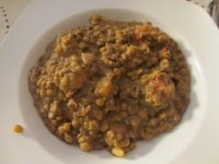 レンズ豆の煮込み。Lentejas。スペインの代表的な家庭料理です。